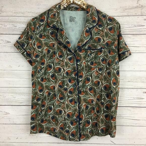 b63b8d0566 Gilligan   O Malley total comfort peacock pj shirt